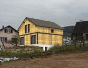 Maison aspect poteau poutre