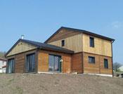 Maison bois moderne cubique