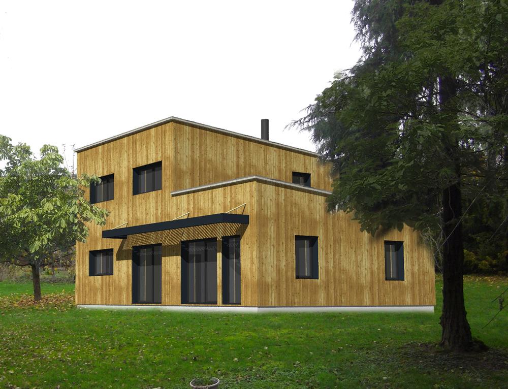 Maison ossature bois cubique toit plat nos projets maison cubique Maison cube toit