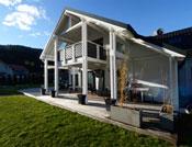 Maison d'architecte bois avec charpente apparente