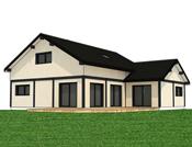 Maison en bardage Canexel blanc