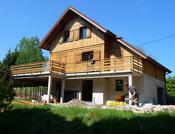 maison ossature bois épicéa jardin