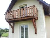 vue de la pose du nouveau balcon