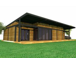 Maison de plain pied à ossature bois
